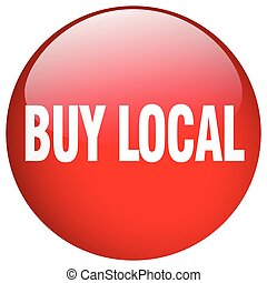 buy local red round gel isolated push button