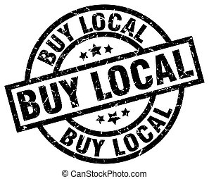 buy local round grunge black stamp