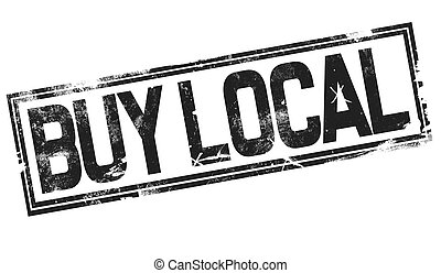 Buy local word with black frame