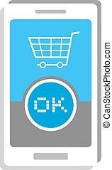 buy mobile button illustration