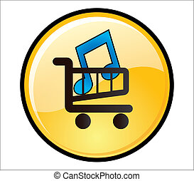 Buy Music Button shopping trolley