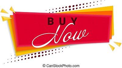 Buy Now Banner Template Design. Vector Illustration.
