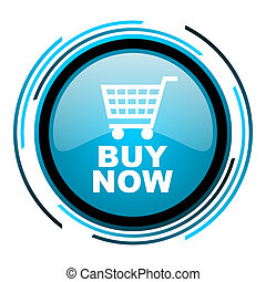 buy now blue circle glossy icon