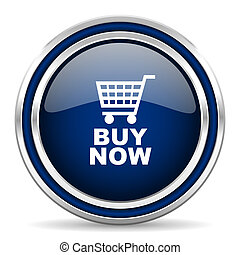 buy now blue glossy web icon