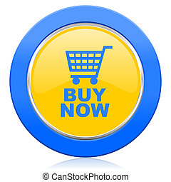 buy now blue yellow icon