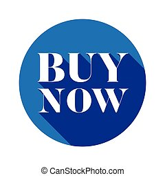 Buy Now button blue round