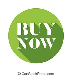 Buy Now button green round