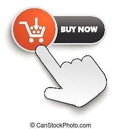 Buy Now Button Hand Cursor