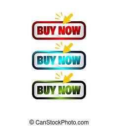 buy now button stylish square button with click symbol signage