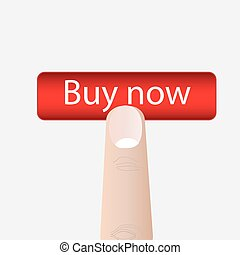 Buy now button. Vector illustration