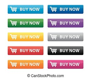 Buy now buttons in various colors