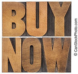 buy now in wood type
