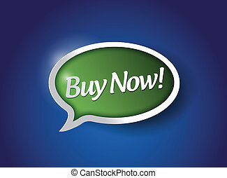 buy now message sign illustration design