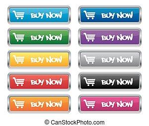 Buy now metallic buttons