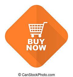 buy now orange flat icon