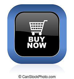 buy now square glossy icon
