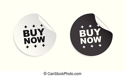 Buy now sticker. Business sale tag label vector illustration on white background.
