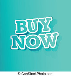 Buy Now Sticker - illustration of sticker of buy now tag in...