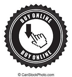 buy on line design over background vector illustration