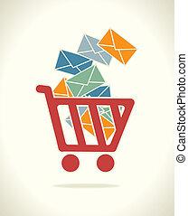 buy on line design over gray background vector illustration...