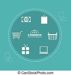 buy on line set icons vector illustration design