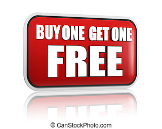 buy one get one free red banner - buy one get one free...