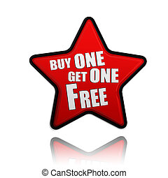 buy one get one free red star banner