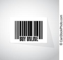 buy online barcode sign illustration design