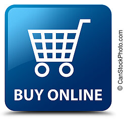 Buy online blue square button