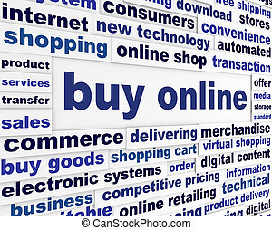Buy online business poster. New internet technologies ...
