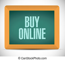buy online chalkboard sign illustration