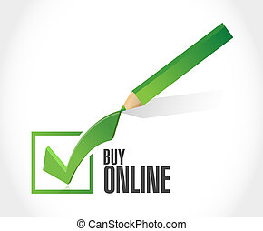 buy online check mark sign illustration