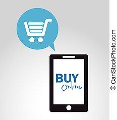 buy online design, vector illustration eps10 graphic