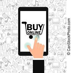 buy online - buy on line design, vector illustration eps10...