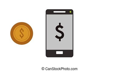 Buy online from smartphone HD animation