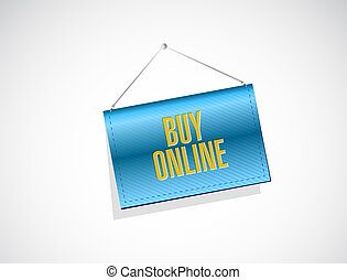 buy online hanging sign illustration