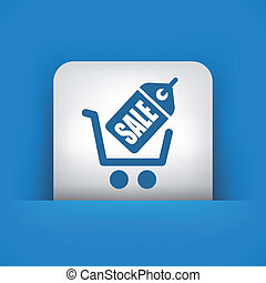 Buy online icon - Illustration of buy online concept icon