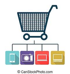buy online icon stock