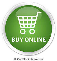 Buy online premium soft green round button