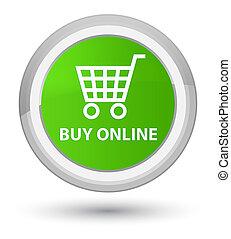 Buy online prime soft green round button