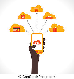 buy online product concept - purchase different product...