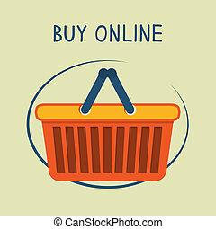 Buy online shopping basket emblem