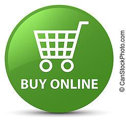 Buy online soft green round button