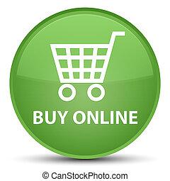 Buy online special soft green round button