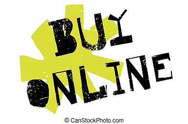 Buy online sticker. Authentic design graphic stamp. Original...