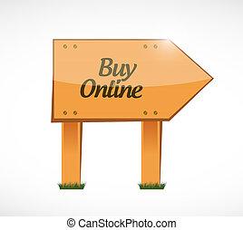 buy online wood sign illustration design