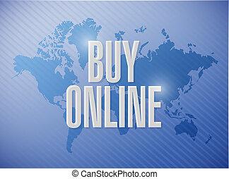 buy online world map sign illustration