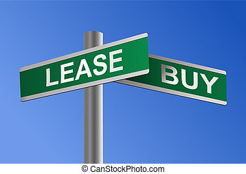 Buy or Lease Crossroads Vector - Vector illustration of a...