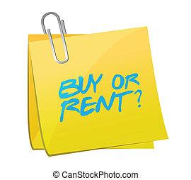 buy or rent post illustration design over a white background