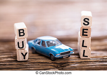 Buy Or Sell Option With Small Blue Car
